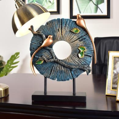 墨菲 欧?#37233;?#24847;家居客厅装饰麋鹿摆件美式玄关工艺品摆设结婚礼物