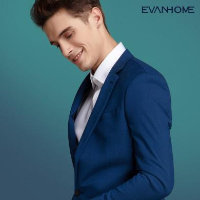 艾梵之家 秋季蓝色西服套装男 修身商务职业男士西装休闲工作套装EVXF214