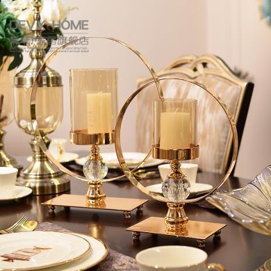 DEVY 歐式創意家居婚慶燭臺 新古典客廳玄關餐桌擺件送禮結婚禮物