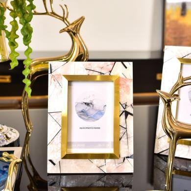 DEVY欧式轻奢创意相框6寸7寸摆台美式样板间卧室床头柜相片框摆件