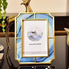 DEVY歐式樣板房擺臺6寸7寸相框美式家居客廳電視柜臥室床頭柜擺件