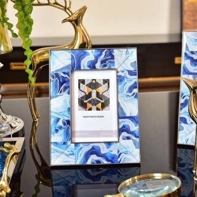 DEVY 歐式創意6寸7寸相框擺臺 現代樣板間臥室床頭柜相片框擺件