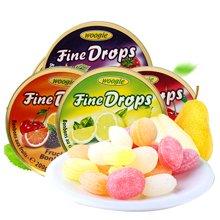 德国进口 Woogie水果糖果200g*4盒 铁盒硬糖下午茶茶点旅游户外