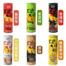 馬來西亞進口 EDO pack巨浪大切薯片六口味六罐裝 多口味膨化零食