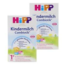 【2盒装】德国喜宝Hipp BIO益生菌奶粉1+段 1岁以上适用 600g/罐
