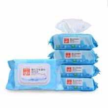 好孩子海洋水润婴儿卫生湿巾86片*5包