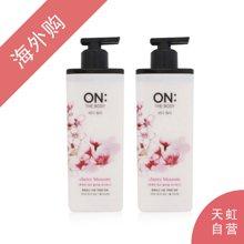 【2瓶装】韩国LG ON THE BODY樱花滋润沐浴露滋润保湿500ml/瓶