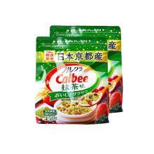 Calbee抹茶味水果麦片(450g)*2包
