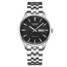 米格(MIGE)手表全自动机械表情侣表腕表时尚个性防水精钢双日历