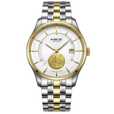 米格MIGE傳承系列情侶表進口機芯防水時尚手表全自動機械表金表男