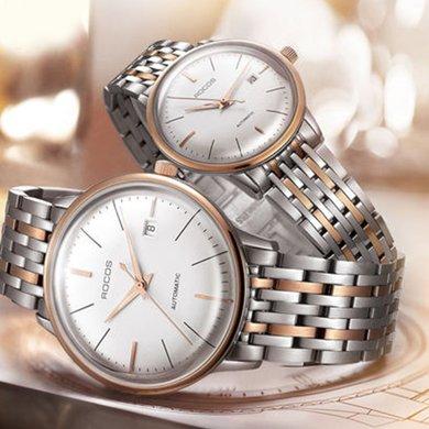 雷克斯正品超薄時尚新款情侶手表一對全自動機械表男女鋼帶防水