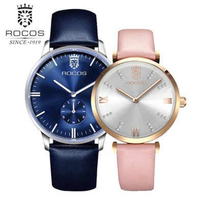 雷克斯正品超薄情侶手表一對表新款鋼帶石英男女表時尚潮流防水