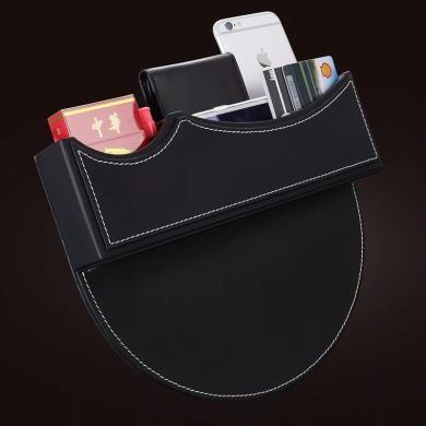 米彤 汽車座椅夾縫收納盒車載縫隙儲物盒水杯架硬幣盒卡槽置物袋箱用品