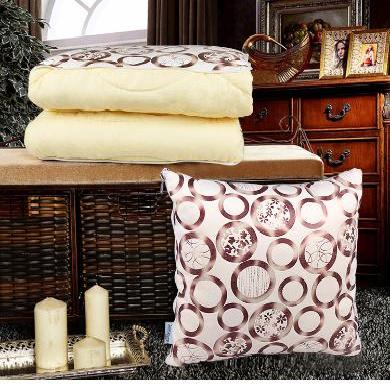 米彤 热销时尚烫金抱枕被 汽车沙发靠垫被 多功能超柔抱枕
