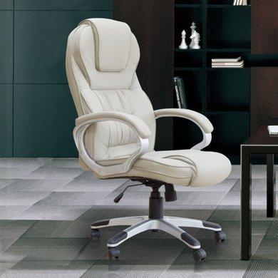 雅客集布莱恩浅灰色博士办公椅FB-14139  舒适老板椅 中班椅 升降移动旋转扶手电脑椅子