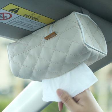 卡飾得 車用紙巾盒 車載遮陽板紙巾套 多功能抽紙盒 皮革 多處安裝天窗掛式