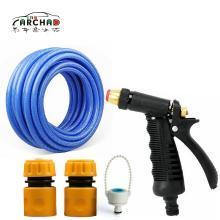 卡飾得 高壓洗車水槍套裝 銅頭金屬水槍+3接頭+15米海藍水管+500Ml洗車液