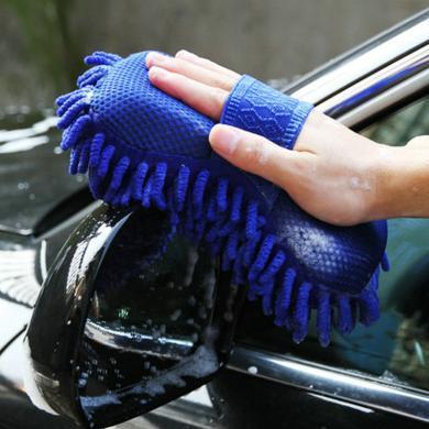 卡飾得 珊瑚蟲洗車手套 雪尼爾絨洗車海綿 除塵抹布 防止劃痕(多色)