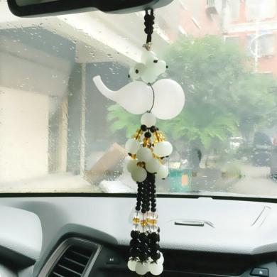 卡飾得 琉璃葫蘆掛飾 水晶串珠香水瓶 汽車掛件 車用香水掛件 平安福祿