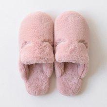 智庭 冬季毛毛棉拖鞋保暖居家情侣拖厚底防滑室内家居可爱女冬
