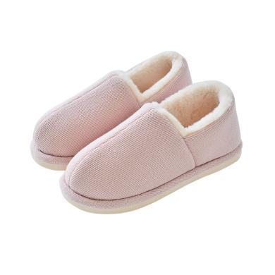 智庭冬季棉拖鞋女居家包跟保暖柔软舒适厚底防滑?#20262;有?#23460;内棉鞋男