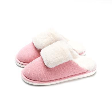 樸西 秋冬季棉拖鞋女 室內家居地板防滑厚底保暖情侶毛絨拖鞋男士