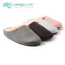 kenroll科柔冬季女棉拖鞋厚底短毛室内居家男拖鞋