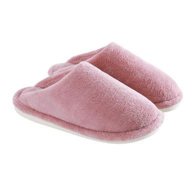 智庭棉拖鞋女冬季毛绒保暖舒适柔软室内简约防滑卧室居家情侣男鞋