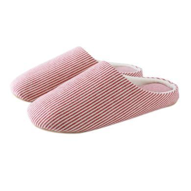 智庭日式棉拖鞋女冬季居家保暖静音无印良品风男室内卧室情侣托鞋