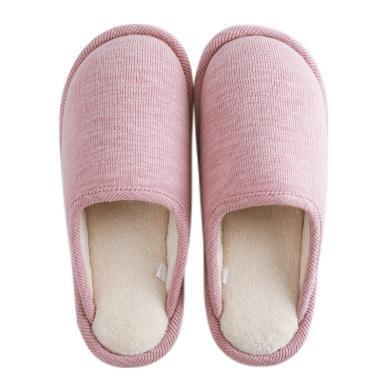 智庭日式冬季棉拖鞋女家居家静音简约保暖棉麻舒适防滑情侣男托鞋