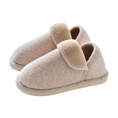 智庭冬季棉拖鞋女室內家用防滑孕婦產后情侶保暖厚底秋冬月子鞋女