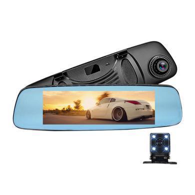 亮視線 4G8寸車載高清智能后視鏡導航藍牙電子狗行車記錄儀