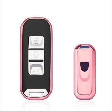 親藍 汽車鑰匙包適用于寶駿智能鑰匙豪華型510 730 560 310W等車型
