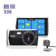 路探 X98双镜头行车记录仪1080P触摸屏多国语言前后双录像