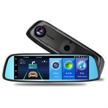 路探 8寸4G后视镜行车记录仪 1080P倒车ADAS声控安卓导航仪蓝牙电子狗