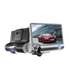 路探 三镜头行车记录仪隐藏式前后3路4寸车内外录像倒车影像高清1080P