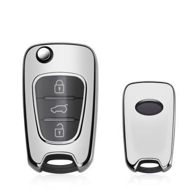 親藍 鑰匙包適用北京現代瑞納悅動瑞奕索納塔八起亞獅跑K2K5保護套殼扣