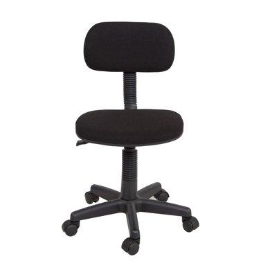 【无扶手旋转升降靠背椅】雅客集黑色兰桂电脑椅FB-13071BL