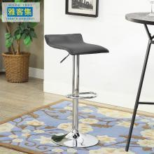 雅客集布蘭登升降旋轉吧椅FB-16070BL 家用高腳凳方凳踏腳電腦椅 酒吧椅 柜臺椅
