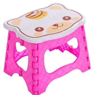 加厚可折叠凳子便携式马扎 儿童卡通塑料小板凳户外创意椅子