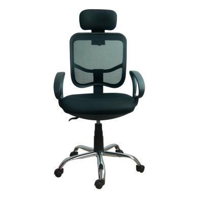 ?#36276;图?#27748;米头枕电脑椅FB-13134 扶手靠?#25104;?#38477;旋转网布办公椅