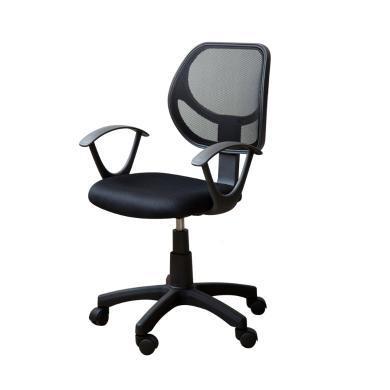 雅客集旋轉升降網布靠背扶手辦公椅透氣舒雅電腦椅FB-13119BL