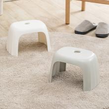 佐敦朱迪Jordan&Judy环保材质塑胶凳 客厅家用简约加厚塑料板?#21490;?#28369;矮凳儿童成人小板凳 浅灰色