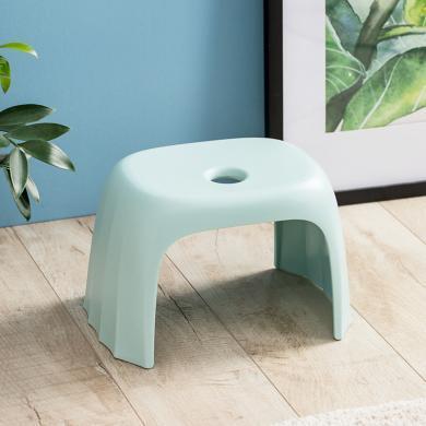佐敦朱迪Jordan&Judy環保材質塑膠凳 客廳家用簡約加厚塑料板凳防滑矮凳兒童成人小板凳 藍色