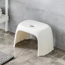 佐敦朱迪Jordan&Judy環保材質塑膠凳客廳家用簡約加厚塑料板凳防滑矮凳兒童成人小板凳白色