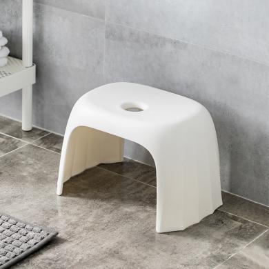 佐敦朱迪Jordan&Judy環保材質塑膠凳 客廳家用簡約加厚塑料板凳防滑矮凳兒童成人小板凳 白色