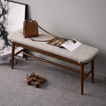 優家工匠實木家具北歐簡約實木長條凳床尾凳換鞋凳長板凳餐廳家具餐凳凳子
