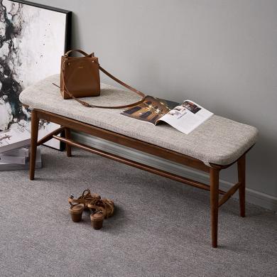 优家工匠实木家具北欧简约实木长条凳床尾凳换鞋凳长板凳餐厅家具餐凳凳子