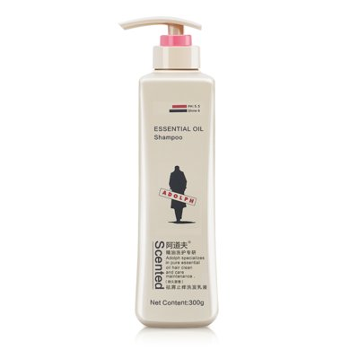阿道夫洗发水300ml 祛屑止痒洗发乳液 止痒舒缓小瓶装