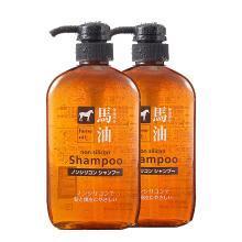 【2瓶】日本熊野油脂(KUMANO COSMETICS )馬油無硅洗發露